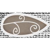 Simple Pleasures- Slate Brown Leaf #01