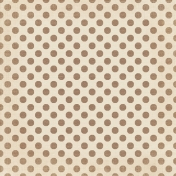 Sweet Valentine- Big Brown Polka Dots Paper