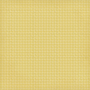 Sweet Valentine- Yellow Houndstooth Paper