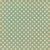 Sweet Valentine- Teal Polka Dots Paper