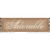 Sweet Valentine- Adorable Label