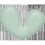 Sweet Valentine Elements- Blue Heart Brad
