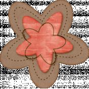 Sweet Valentine Elements- Pink Brown Flower