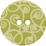 Sweet Valentine Elements- Green Swirly Button