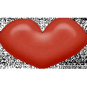 Sweet Valentine- Red Heart Brad