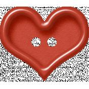 Sweet Valentine- Red Heart Button