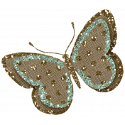Sweet Valentine Elements- Teal Butterfly