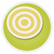 Lil Monster- Green & Yellow Circle Sticker