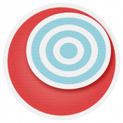 Lil Monster- Red & Blue Circle Sticker