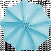 Lil Monster- Blue Accordian Paper Flower
