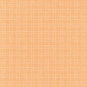 Lil Monster Orange Grid Paper