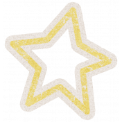 Lil Monster Yellow Star Outline Sticker