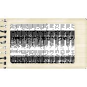 Lil Monster- Blue Lines Notebook Paper Frame