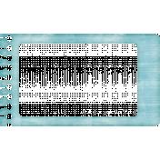 Lil Monster- Blue Notebook Paper Frame