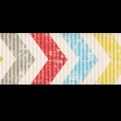 Lil Monster- Colorful Chevron Ribbon