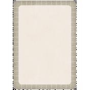 Lil Monster- Grayish Brown Journal Tag