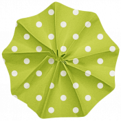 Lil Monster- Green Polkadot Accordian Paper Flower