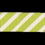Lil Monster- Green Stripes Ribbon