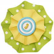 Lil Monster- Green & Yellow Accordian Paper Flower