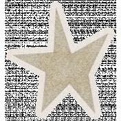 Lil Monster Brown Star Sticker