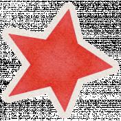 Lil Monster Red Star Sticker
