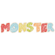 Lil Monster- Monster Wordart