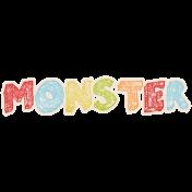 Lil Monster- Monster Wordart