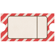 Lil Monster- Red Striped Journal Tag