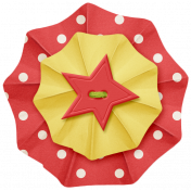 Lil Monster- Red & Yellow Accordian Paper Flower