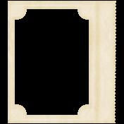Lil Monster- White Stubbed Paper Frame