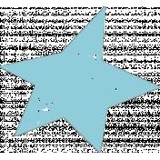 Lil Monster Blue Star Stamp
