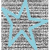 Lil Monster Blue Star Stamp Outline