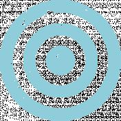 Lil Monster Blue Target Stamp