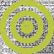 Lil Monster Green Target Stamp
