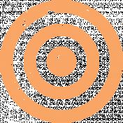 Lil Monster Orange Target Stamp
