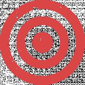 Lil Monster Red Target Stamp