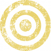 Lil Monster Yellow Target Stamp