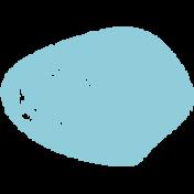 Lil Monster Blue Dot Stamp