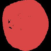 Lil Monster Red Dot Stamp
