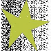Lil Monster Green Star Stamp
