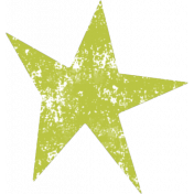 Lil Monster Green Star Stamp