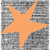 Lil Monster Orange Star Stamp