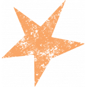 Lil Monster Orange Star Stamp