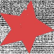 Lil Monster Red Star Stamp