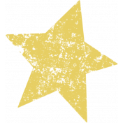 Lil Monster Yellow Star Stamp