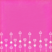 Be Mine Pink Border Paper