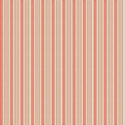 Sweet Valentine Pink and Brown Striped Paper