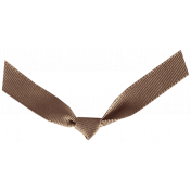 Oh Lucky Day- Brown Knotted Ribbon