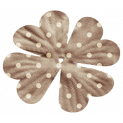 Oh Lucky Day- Brown Polkadot Flower