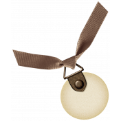 Oh Lucky Day- Brown Ribbon Tag